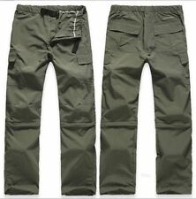Hot Mens Outdoor Quick Dry Pants Zip Off Leg Hiking Trousers Shorts Removable