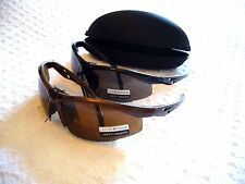 SAFETY GLASSES W/ BIFOCAL READERS W/ FREE CASE~SMOKED LENS GR8 4 READING PRINTS