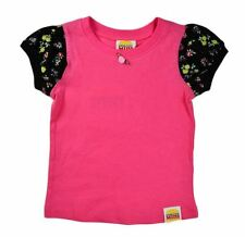 NWT HARAJUKU MINI 'TODDLERS' BY GWEN STEFANI FLORAL TEE SHORT SLEEVES BLACK/PINK