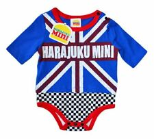 NWT HARAJUKU MINI 'TODDLERS' BY GWEN STEFANI BRITISH THEME BODY SUIT ONESI BLUE