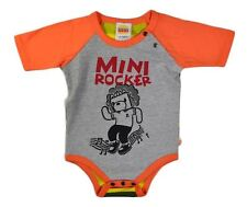 NWT HARAJUKU MINI 'TODDLERS' BY GWEN STEFANI ROCKER PRINT BODY SUIT ONESI ORANGE
