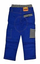 NWT HARAJUKU MINI 'BOY'S' BY GWEN STEFANI STRIPED POCKETS PANTS IN SOLID BLUE