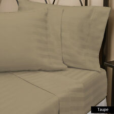 USA 1000TC 100% EGYPTIAN COTTON TAUPE STRIPE BEDDING ITEMS CHOOSE SIZE & BEDDING