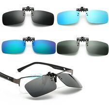 Men UV 400 Polarized Flip-up Sunglasse rectangle Myopia Glasses Clip-on