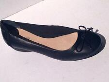 New Women Diana Ferrari Leather Shoe/Work/Flat Black Size 6/7/8/9/10/11/12