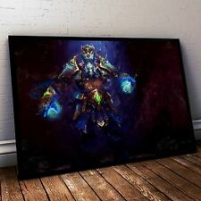 Dota 2 Poster. Dota Zeus Painting Print. Mounted Canvas available