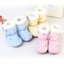 Baby Girl Boy Newborn Winter Warm Boots Toddler Infant Soft Sole Shoes 6-12Month