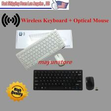Mini 2.4G DPI Wireless Keyboard and Optical Mouse Combo for Desktop PC US Seller