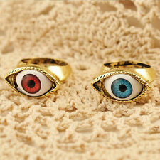 Vintage Retro Punk Gothic Rings Exaggerated Vampire Eye Rings Fashion Jewelry