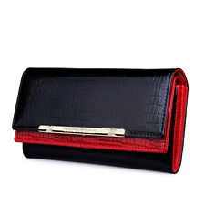 Luxury Patent Leather Women's Wallet Long Clutch Purse Card Holder Handbag Bag