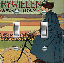 AMSTERDAM BIKE Vintage Switch Plate (double/triple)  ***FREE SHIPPING***