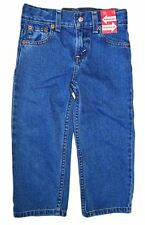 LEVI'S STRAUSS & CO GIRLS TODDLERS JEANS FLARE ADJUSTABLE MEDIUM WASH 23T515