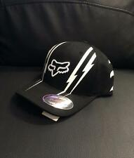 "NEW FOX RACING ""DOMINION"" HAT - BLACK/WHITE - ADULT S/M, L/XL - 100% GENUINE NEW"