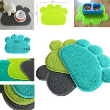 Dog Puppy Paw Shape Placemat Pet Cat Dish Bowl Feeding Food PVC Wipe Clean Newly