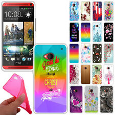 For HTC One M7 TPU Slim Flexible Gel Silicone Rubber Skin BACK Case Cover