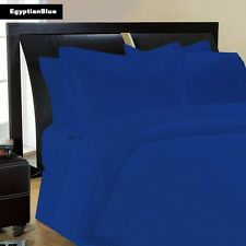 (EGYPTIAN BLUE SOLID) 1000TC COMPLETE BEDDING COLLECTION 100% COTTON ALL SIZE