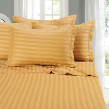 USA SCALA (GOLD STRIPE) 1000TC COMPLETE BEDDING COLLECTION 100% COTTON ALL SIZE