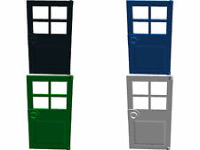 Lego Door 4 Pane x2 1x4x6 Choose from 4 Colours City House Home Creator