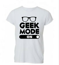 Geek Mode On Tumblr Hipster Swag Funny Womens Mens TShirt Tee
