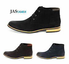 Mens Casual Ankle Boots Fashion Chelsea Faux Suede Shoes Smart UK 6 7 8 9 10 11