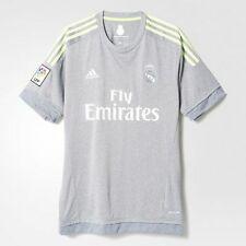 REAL MADRID ADIDAS GRAY GREY Short Sleeve Soccer Jersey (AA2219) - 100% ORIGINAL
