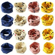 Kids Baby Cotton Snood Scarf Scarves Wrap Girl Boy Neckerchief Neck Protect Warm