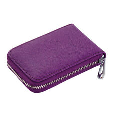 Fashion Women Leather Credit Card Holder Purse Small Wallet Zipper Card Case Bag