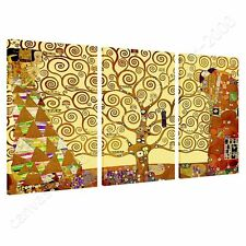 CANVAS +GIFT Tree Of Life Gustav Klimt 3 Panels Prints Posters Wall Decor