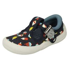 Boys Clarks Canvas First Shoes Briley Sky