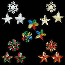 SET of 3 Christmas 60cm Foil Ceiling Decoration Hanging – Choose Colour