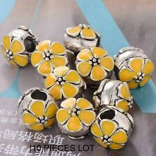 10X for bracelets european beads charms chain making jewelry Love Plum Blossom