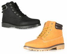 Mens Ankle Boots Casual Winter Gents Walking Hiking Black Boots Shoe