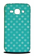TEAL POLKA DOTS PATTERN HARD CASE COVER FOR SAMSUNG GALAXY ACE 3
