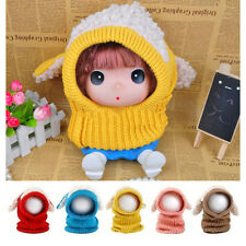 Top New Winter Baby Warm Cute Dog Knitted Crochet Cloak Hooded Hat Cap Scarf Set
