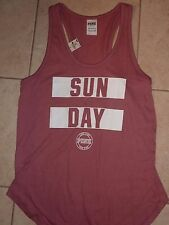 "VICTORIAS SECRET PINK NEW GRAPHIC ""SUN DAYS"" TANKTOP TEE NWT"