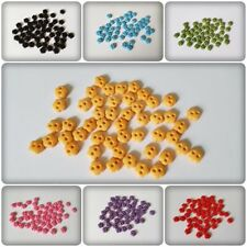 50 x 2-Hole Acrylic Buttons - 6mm - Flower [Various Colours Available]