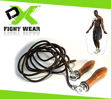 Skipping Rope Leather Adjustable Fitness Weighted Boxing Workout Jumping