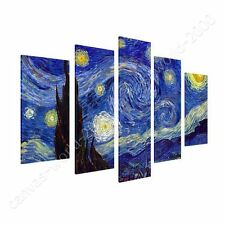 CANVAS +GIFT Starry Night Vincent Van Gogh 5 Panels Poster Painting Paints
