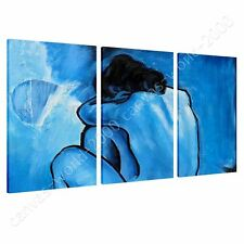 CANVAS +GIFT Blue Nude Pablo Picasso 3 Panels Prints Poster Giclee Painting
