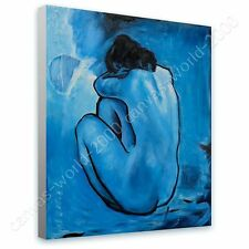 CANVAS +GIFT Blue Nude Pablo Picasso Wall Decor Wall Art Painting Paints