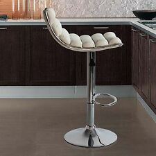 Fine Mod Imports Linder Adjustable Height Swivel Bar Stool with Cushion