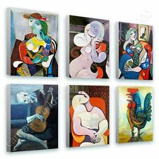 CANVAS +GIFT Marie Terese Rooster Book Guitarist Pablo Picasso Set Of 6
