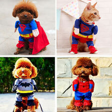 Pet Dog Superman Batman Spiderman Costume Halloween Clothes Cosplay Cat Outfit