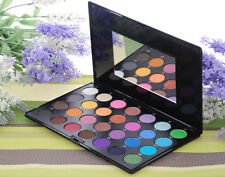 Hot 28 Warm Color Pro Cosmetic Matte Eyeshadow Palette Makeup Kit Set and Mirror