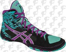 ASICS Cael V 7.0 Mens Wrestling Shoes J605Y-9036 Black/Orchid/Turquoise NEW!