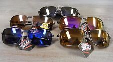 NWT UV400 SUNGLASSES,METAL FRAME, AVIATORS, SPRING TEMPLES, POLARIZED LENSE