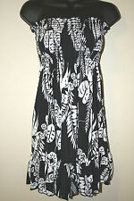 FUNWEAR FACTORY JUNIOR STRAPLESS BLK/WHT DRESS SIZES MEDIUM NEW $50