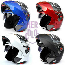 NewMotorbike Helmet Dual Visor Modular Flip Up Sun Shield Full Open Face