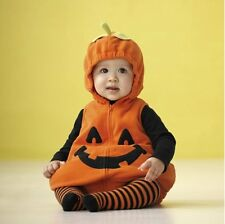 Baby Boy Girl Halloween Costume Pumpkin Outfit Fancy Dress Cosplay Clothes 6-24M