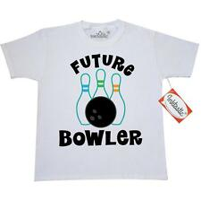 Inktastic Future Bowling Childs Bowling Youth T-Shirt bowler bowl kids ball pins